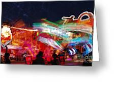 Carousel By Night Greeting Card