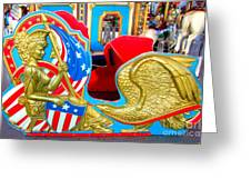 Carousel Chariot Greeting Card