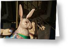 Carousel Hare Greeting Card