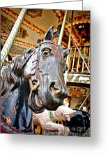 Carousel Horse Head Greeting Card
