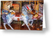Carousel Horse Photo Art 02 Greeting Card