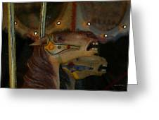 Carousel Horses Painterly Greeting Card