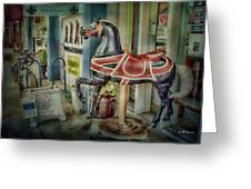 Carousel Hourse Greeting Card by Jeff Swanson
