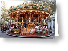 Carousel In Avignon Greeting Card