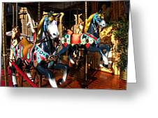 Carousel In Florence Italy Greeting Card