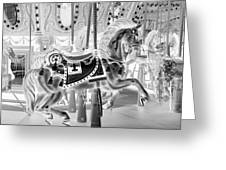 Carousel In Negative 3 Greeting Card