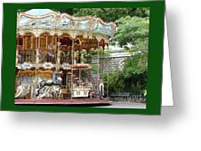 Carousel In Paris Greeting Card