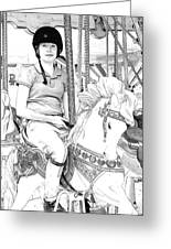 Carousel Rider Greeting Card