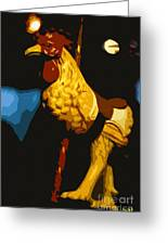 Carousel Rooster Greeting Card