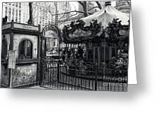 Carousel Tickets Mono Greeting Card