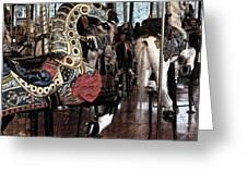 Carousel War Horse Greeting Card