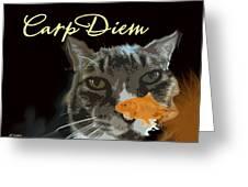 Carp Diem Greeting Card