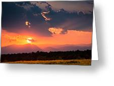 Carpathian Sunset Greeting Card