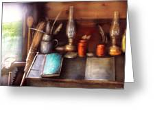 Carpenter - In A Carpenter's Workshop  Greeting Card