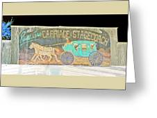 Carriage And Stagecoach Color Invert Greeting Card