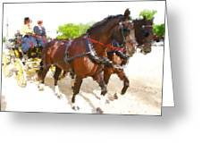 Carriage Artistic Greeting Card
