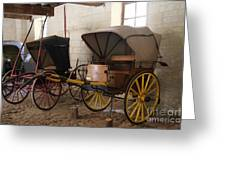 Carriage - Chateau Usse Greeting Card