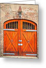 Carriage House Doors Greeting Card