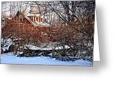 Carriage House In Snow Greeting Card