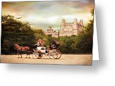 Carriage Ride In Central Park Greeting Card