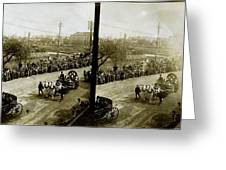 Carriages Carrying Admiral Togo Greeting Card