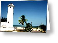 Carribbean Lighthouse Greeting Card