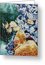Carribean Currents Poster Greeting Card