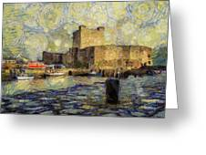 Starry Carrickfergus Castle Greeting Card