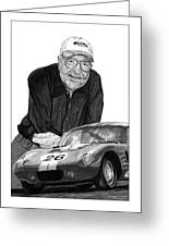 Carroll Shelby    Rest In Peace Greeting Card by Jack Pumphrey