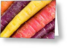 Carrot Rainbow Greeting Card