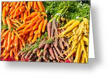 Carrots At The Market Greeting Card