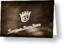 Carrozzeria Boano Emblem Greeting Card