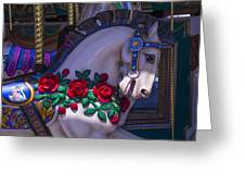 Carrsoul Horse With Roses Greeting Card