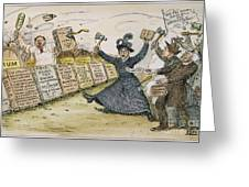 Carry Nation Cartoon, 1901 Greeting Card