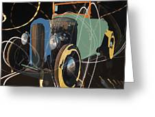 Cars And Stars Greeting Card