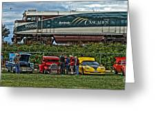 Cars And Trains Greeting Card
