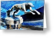 Cars - Lincoln Greyhound Hood Ornament Greeting Card