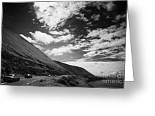 cars on the road around the Iveragh Peninsula Ring of Kerry Greeting Card