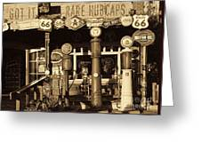 Carsland Route 66 Greeting Card