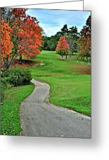 Cart Path Greeting Card by Frozen in Time Fine Art Photography