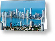 Cartagena Skyscapers Greeting Card