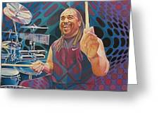 Carter Beauford-op Series Greeting Card