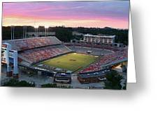 Carter-finley Stadium Greeting Card by Elevated Perspectives LLC