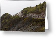 Cartoon - Wire Mesh Holding Up A Crumbling Hillside In The Scottish Highlands Greeting Card