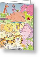 Cartoon Animals Greeting Card