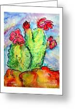 Cartoon Cactus Greeting Card