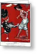 Cartoon Football, 1901 Greeting Card