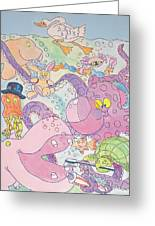 Cartoon Sea Creatures Greeting Card
