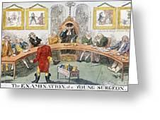 Cartoon: Surgeons, 1811 Greeting Card