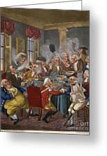 Cartoon: The Smoking Club Greeting Card